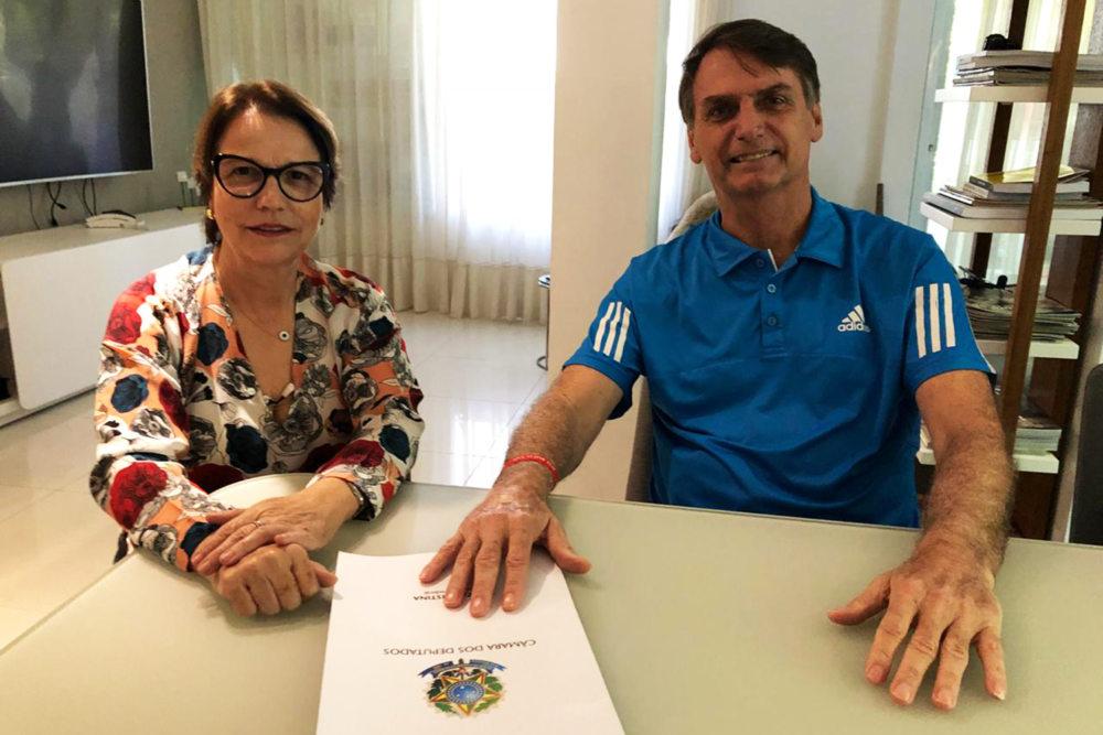 Famasul parabeniza escolha de Bolsonaro por Tereza Cristina, deputada federal sul-mato-grossense para Ministério da Agricultura
