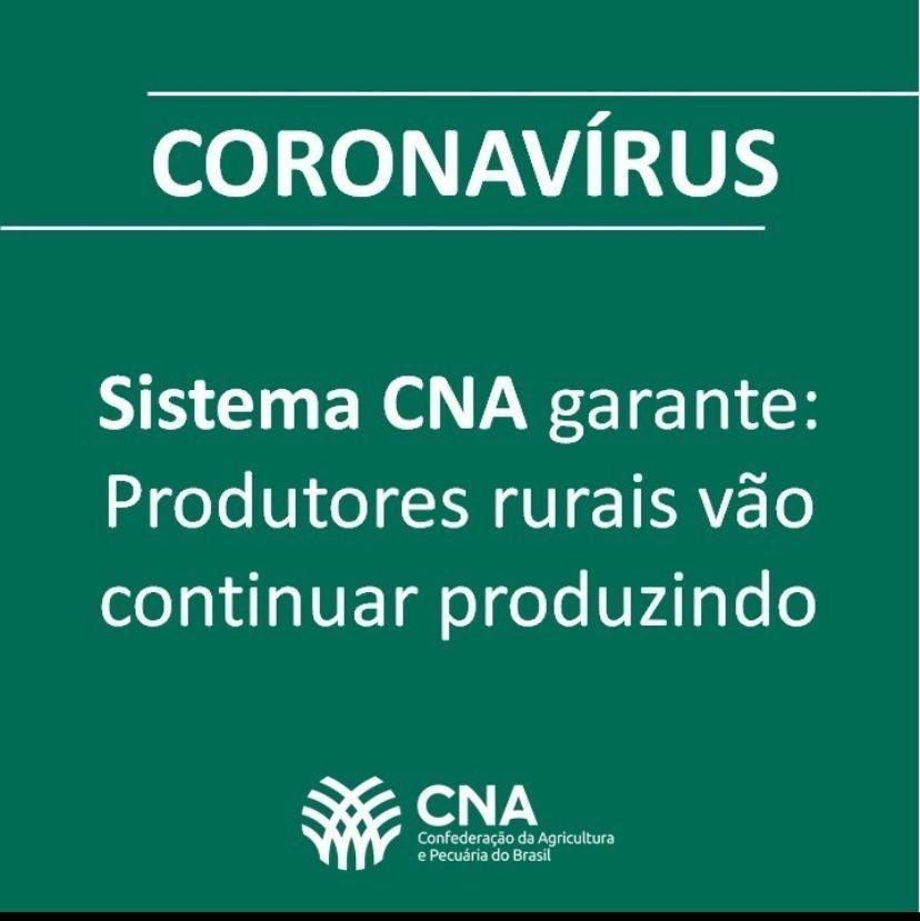 CNA doa R$ 5 milhões para combater Coronavírus